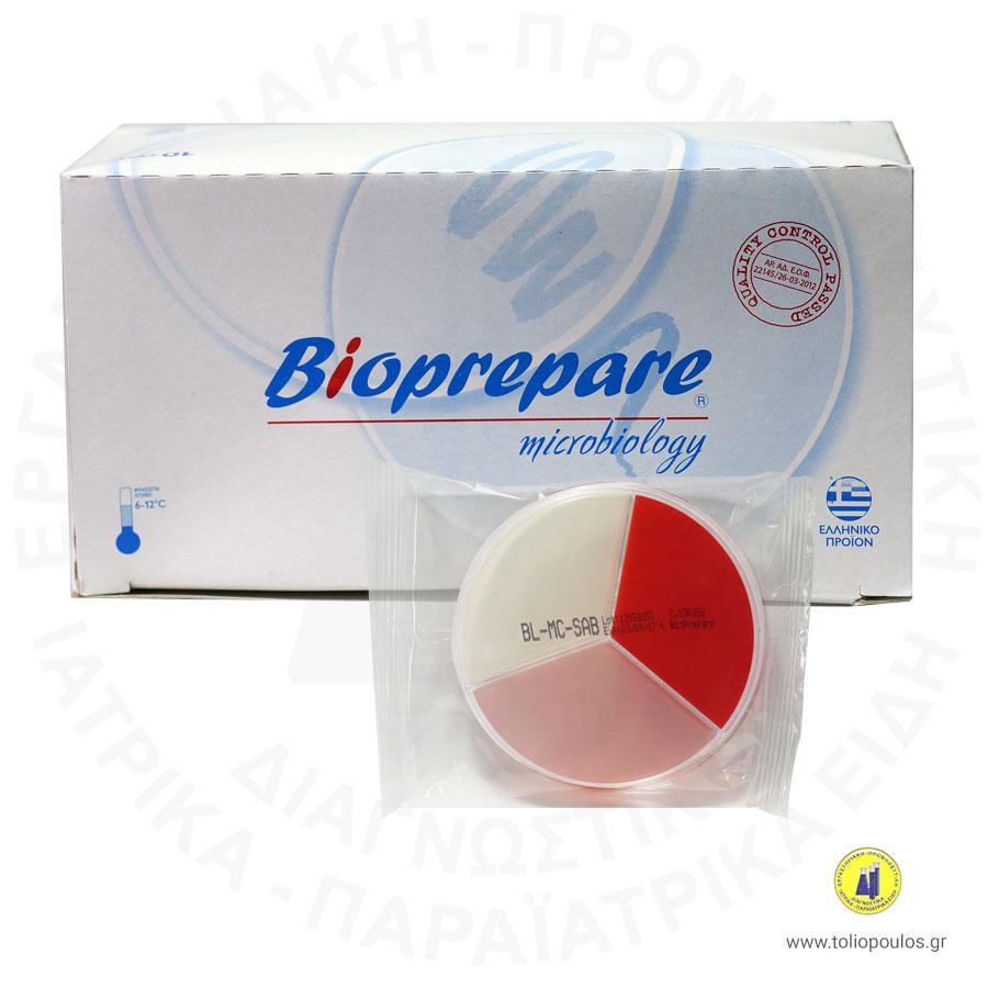 θρεπτικό υλικό blood agar, mac conkey και sabouraud