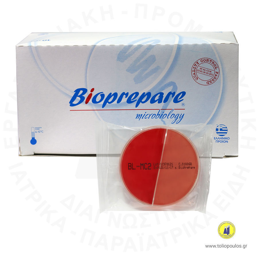 θρεπτικό υλικό mac conkey 2 bloud agar