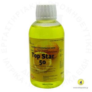 διάλυμα γλυκόζης 200ml 50gr lemon top star