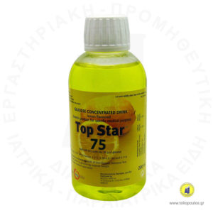 διάλυμα γλυκόζης 200ml 75gr lemon top star