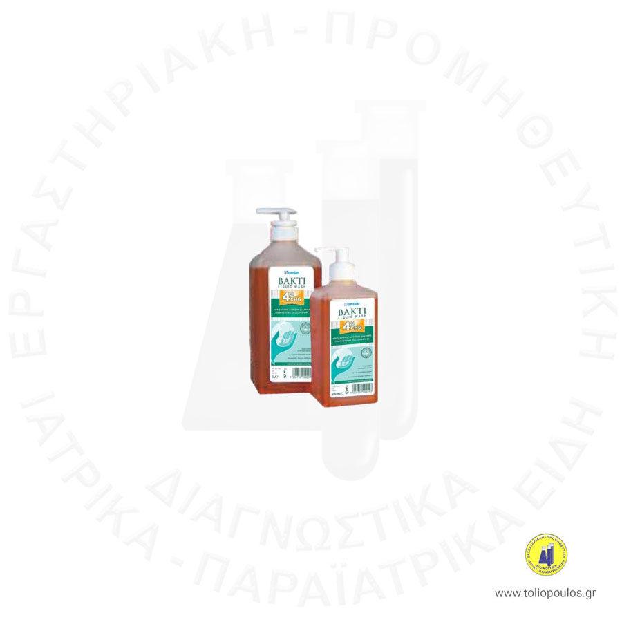 Αντιμικροβιακό Σαπούνι BAKTI LIQUID WASH CHG 4% 1L ΤΟΛΙΟΠΟΥΛΟΣ ΔΙΑΓΝΩΣΤΙΚΑ
